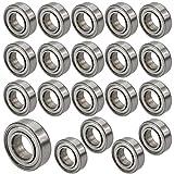 [ JBS basics ] 20 Stück [ 688 ZZ ] Kugellager [ 8 x 16 x 5 mm ] Miniatur Lager Rillen Radiallager Precicion Ball Bearing