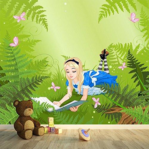 Alice nel paese delle meraviglie illustrazione Fairytale Fotomurale bambini Photo