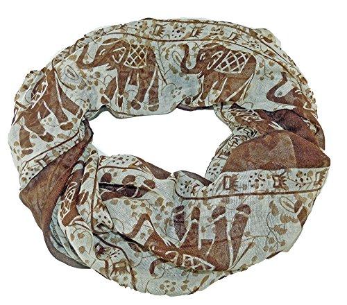 Leichte Loops mit modischem Design (Elefant Braun)