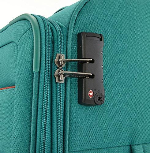 Travelite SOLARIS 4 Rad Trolley S, 88147-01 Koffer, 54 cm, 36 L, Schwarz/Limone - 3
