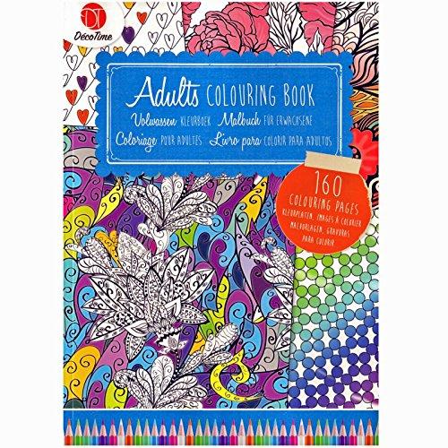 Malbuch für Erwachsene zum ausmalen DIN A4 160 Seiten