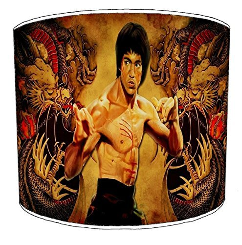 Bruce Lee Martial a soffitto 20,3 cm ARTS2 LAMPSHADE14, metallo Carta, Yellow, 30,5 cm