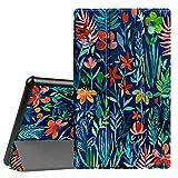 Fintie Hülle kompatibel für Amazon Fire HD 10 Tablet (10-Zoll, 7. Generation - 2017) - Slim Cover Lightweight Schutzhülle Tasche mit Standfunktion & Auto Schlaf/Wach Funktion, Dschungelnacht
