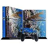Leben im Meer 10115, Korallenriff, Designfolie Sticker Skin Aufkleber Schutzfolie mit Farbenfrohem Design für Playstation 4 CUH 1200