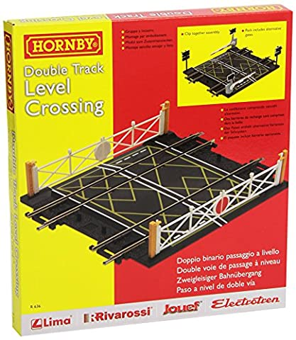 Hornby R636 00 Gauge Level Crossing Double Track