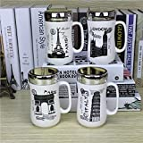 Satyam Kraft Designer Ceramic Coffee Mugs with Mirror Lid -1Pcs 400ml (Random Design)