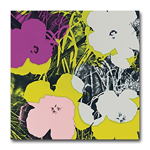Andy Warhol Flowers 64 Large Canvas Art Print. Retro Funky Pop Art Cool Gift by Pop Art Products