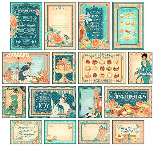 graphic-45-cafe-parisian-ephemera-cards-multi-colour
