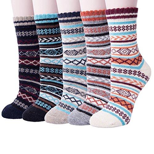 Garsumiss Damen Socken Baumwolle Thermal komfortable Mädchen Socken Malerei Cartoon Süße Lustige Nette Lässige Frauen Socken EU 35-41 (Damen-socken Acryl)