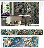 Ölbeständig Aufkleber Küche Bodenfliesen, renovierte Bäder Gesundheit Tipps wasserdicht Fliesen- Poster 5 M * 20 CM, FHT-05 Selbstklebend