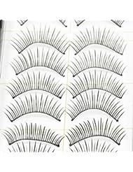 Beauties Factory 10 Pairs Good-to-go False Eyelashes Style 10