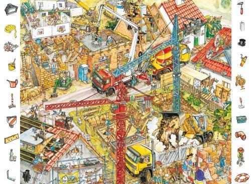 Ravensburger Spiel 09672 - Puzzle (84 Piezas), diseño de Zona en construcción