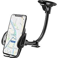IZUKU Handyhalter fürs Auto Armaturenbrett/Windschutzscheiben Handyhalterung Auto Smartphone Halterung KFZ stabil und kompatibel mit Samsung S6/S7/S8/S9/S10/A6/A7 iPhone 6/7/8/Xs Huawei Mate 20/30 P30