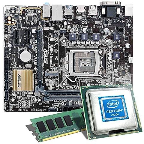 Intel Pentium G4560 / ASUS H110M-A/M.2 / 8GB Mainboard Bundle   CSL PC Aufrüstkit   Intel Pentium G4560 2x 3500 MHz, 8GB RAM, Intel HD Graphics 610, GigLAN, 7.1 Sound, USB 3.1   PC Tuning Kit