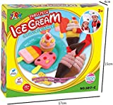Fajiabao Kids Gifts Funny Ice Cream 3D Play Dough Clay Original Silly Putty Play Clay Tools Mold Set for Kids Gift 13 Pc (ice cream)
