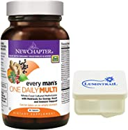 New Chapter Every Man's One Daily, Mens Multivitamin with Probiotics, Vitamin D3, Non-GMO - 96 Tablets Bundle with a Lumintra