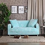 FDJKGFHGFCGDFGDG Elastische schutzhülle,Sofa Universal Aus Stoff Anti-rutsch-Sofa slipcovers Ledersofa Tight Paket Volle Deckung Sofa Handtuch Sofabezug-Blau 4 Sitzer