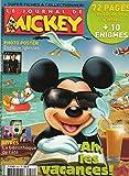 Le Journal de Mickey n° 2926 du 16 Juin 2008 : Ah, les vacances ! / Photo-poster : Enrique Iglesias / Livres : la bibliothèque de l'été / 72 pages de BD, de jeux, d'infos+ 10 énigmes