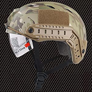 Emerson Casque Fast BJ de type SWAT pour airsoft et paintball Camouflage avec des lunettes