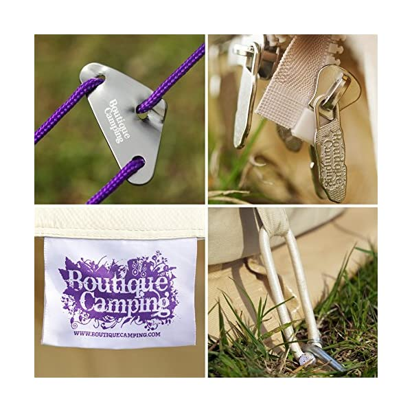 Boutique Camping 4m Sandstone Bell Tent With Zipped In Ground Sheet 7