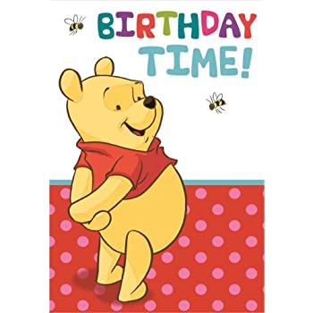 Disney Classics Winnie The Pooh Birthday Card Amazon Toys