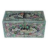 Madre de Pearl incrustaciones ciervo de pato lacado madera cajón mujeres chica secreto joyas anillo pequeño tesoro de recuerdos Pendientes caja de regalo en el pecho organizador almacenamiento