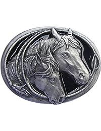 Gürtelschnalle Buckle Pferde mit Lasso
