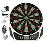 ACEHE Elektronisch Dartscheibe Profi Dartautomat für bis zu 16 Spieler mit 21 Spielen und 146 Varianten, Darts, Pfeilen, Netzteil