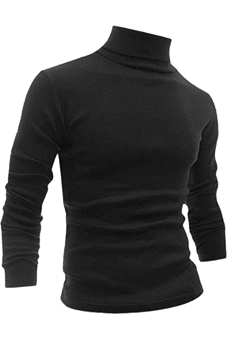 UK Men Roll Turtle Neck Pullover Knitted Jumper Tops Sweater Shirt Cotton Blouse