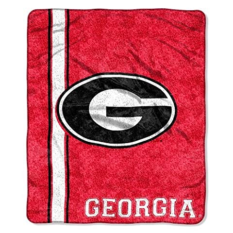 NCAA Georgia Bulldogs 50-Inch-by-60-Inch Sherpa on Sherpa Throw Blanket Jersey Design by Northwest