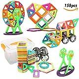 FUNTOK 158 piezas Magnéticos Bloques Juguetes Construcción Set, Niños Early educativo juguetes colorido creativo mejor regalo de juguete juegos de puzzle