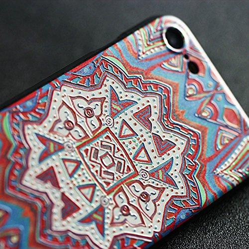 iPhone 7 hülle,Lizimandu TPU 3D Handyhülle Muster Case Cover Für apple iphone 7(Grünes Fragment/Green Fragment) Maya Totem