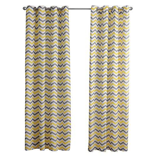 Liveinu 2 pannello tenda con occhielli in lino e motivo a strisce geometriche decorativa trasparenti tende tinta unita drappeggiato per camera da letto 140 x 220 cm giallo