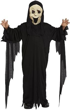 boys girls scream robe and mask halloween costume age 4 12 79