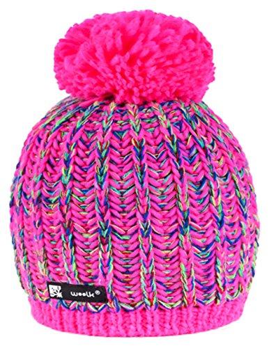 morefaz Wurm Winter Niunio Style Beanie Mütze mit Ponpon Damen Herren HAT HATS SKI Snowboard (Niunio 89) MFAZ Ltd