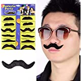 Days Off 12 Pack Self Adhesive Fake Mustaches Novelty Party Supplies Decorations
