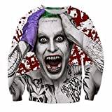 Mode Männer Frauen Langarm Oberbekleidung Selbstmord Squad Joker Drucken 3D Sweatshirt Crewneck Casual Pullover 1 M