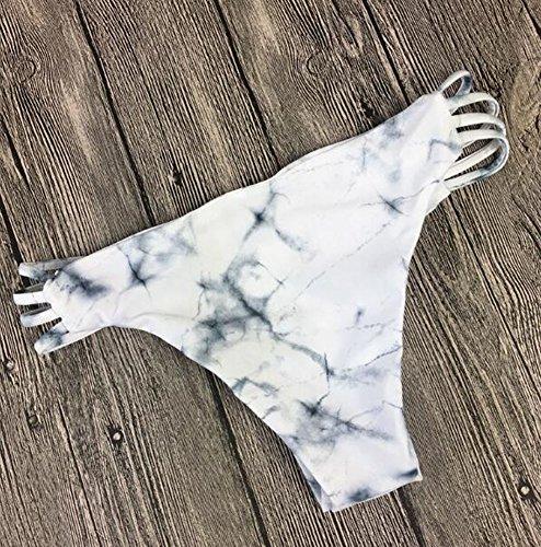 Cliont Frauen gepolsterte Bikini Set Badebekleidung Zwei Stück Badeanzug Weiß