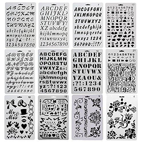 evneed-12-pieces-chiffre-et-letter-pochoir-alphabet-peinture-reutilisable-souple-majuscule-minuscule