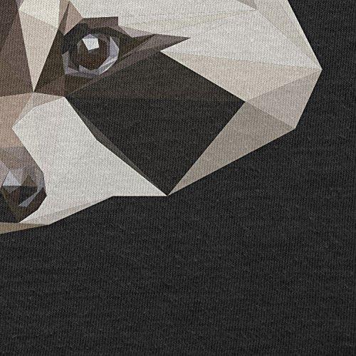 Texlab–Poly Racoon–sacchetto di stoffa Nero