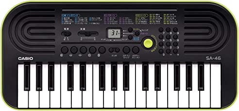 Casio SA-46 32 Mini Keys Musical Keyboard (Black/Green)