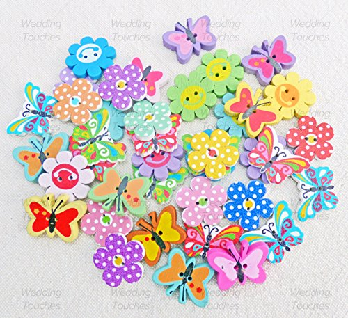 40pcs-mix-wooden-flower-butterfly-buttons-for-craft-cardmaking-embellishments