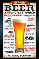 , BEER how to order, (Dimension : Maxi 61 x 91.5cm)