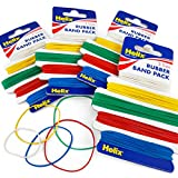 Helix - 300 Assorted Elastic Rubber Bands - 5 Colour Coded Sizes