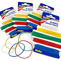 300 bandas de goma elásticas surtidas de Helix, 5 tamaños codificados por colores