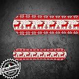 Kit Adesivo Tavola Snowboard Winter Renne e Fiocchi Personalizzata Wrapping Stickers Decal Rivestimento