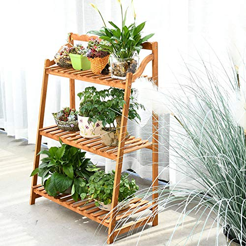 LIUJUN Blumenstand Multi-Layer Solid Wood Balcony Shelf Plant Pot Display Garden Corner Indoor und Outdoor Decorative,A5