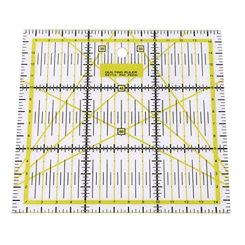 Yinew Acryl DIY Basteln Nähen Quilten, rutschfest für Patchwork-Lineal, von Sew Handicraft-Design (Ausstecher Lineal)