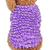 Bluestercool Chien chiot été coloré veste gratuit taille magique élastique chemise vêtements (Violet, Taille libre)