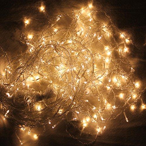 regen Lichterkette Christbaumschmuck Warmweiß Romantisch für Weihnachtsfest Festlich Wedding Garten ()